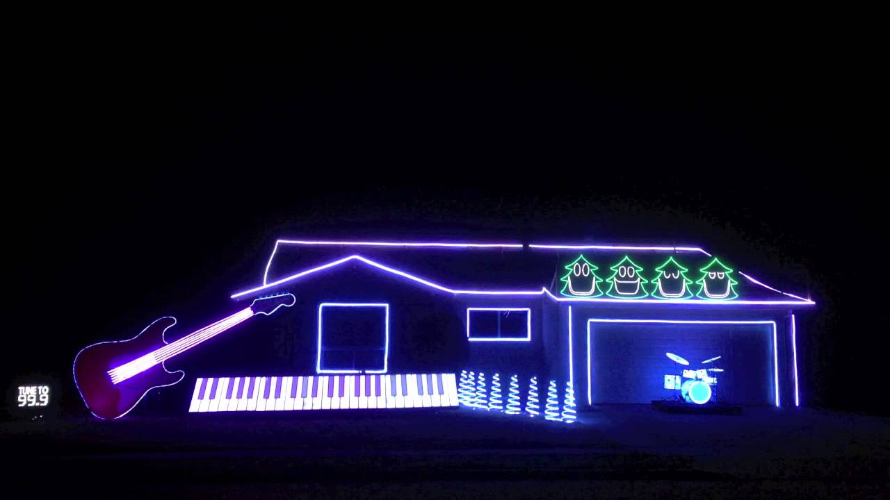 Amazing And Hilarious Christmas Light Show!   Christmas Can Can   YouTube