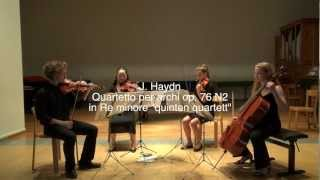 "J. Haydn - String quartet Op 76 no 2 in D minor ""quinten quartett"""