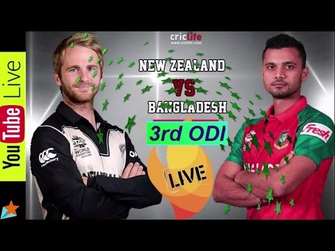 Bangladesh vs New Zealand 3rd ODI Live | Live cricket Streaming | Live cricket scores