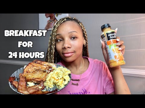 I ONLY ATE BREAKFAST FOODS FOR 24 HOURS!