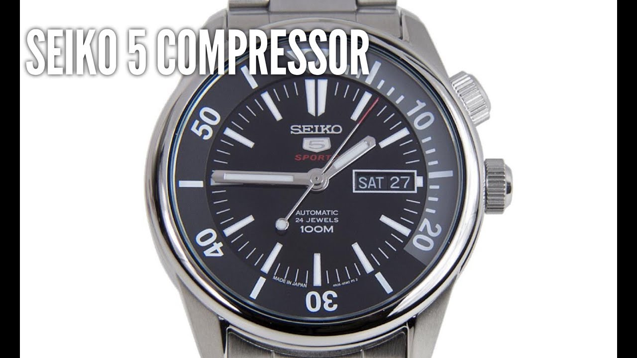 Seiko 5 srpb27 automatic compressor diving watch review made in japan youtube for Watches japan