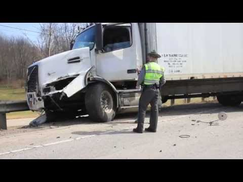 2014 AC straight-body truck and SUV accident on Route 46 Jefferson Township.