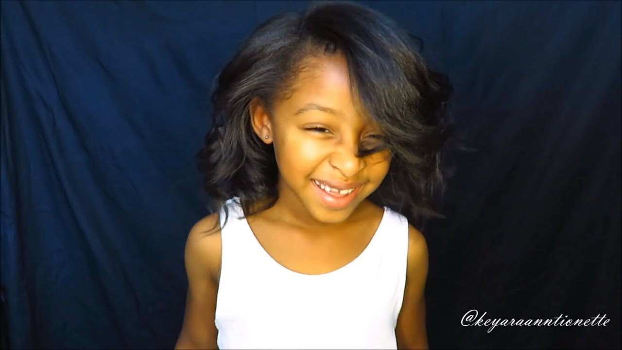 Straightening Kids Natural Hair Tutorial