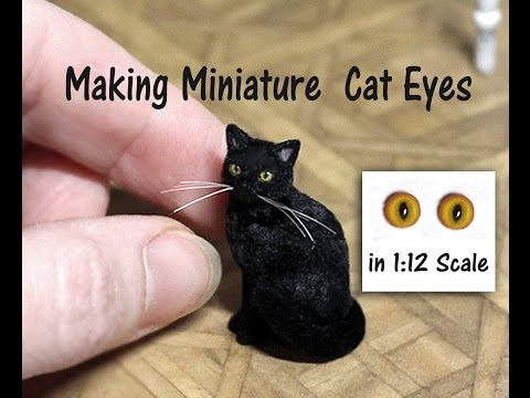 Making Miniature Cat Eyes in 1:12 Scale [English]