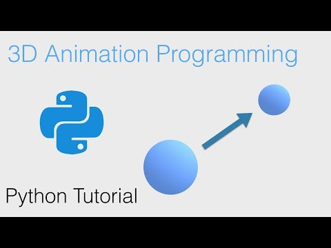 3D Animation Using Python Code, Beginner Tutorial