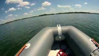 KOLIBRI 330 DL(Не большой тест лодки Kolibri (Колибри) 330 DL (Слань-книжка) по мотором Tohatsu 15, скорость 35 км/ч., 2015-07-05T20:36:15.000Z)