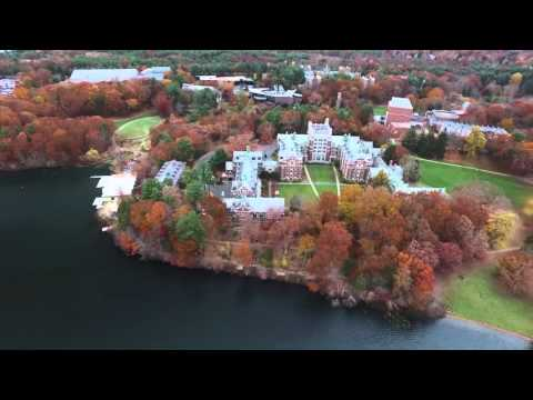 Wellesley College in Autumn, Drone Footage (Full Flight)