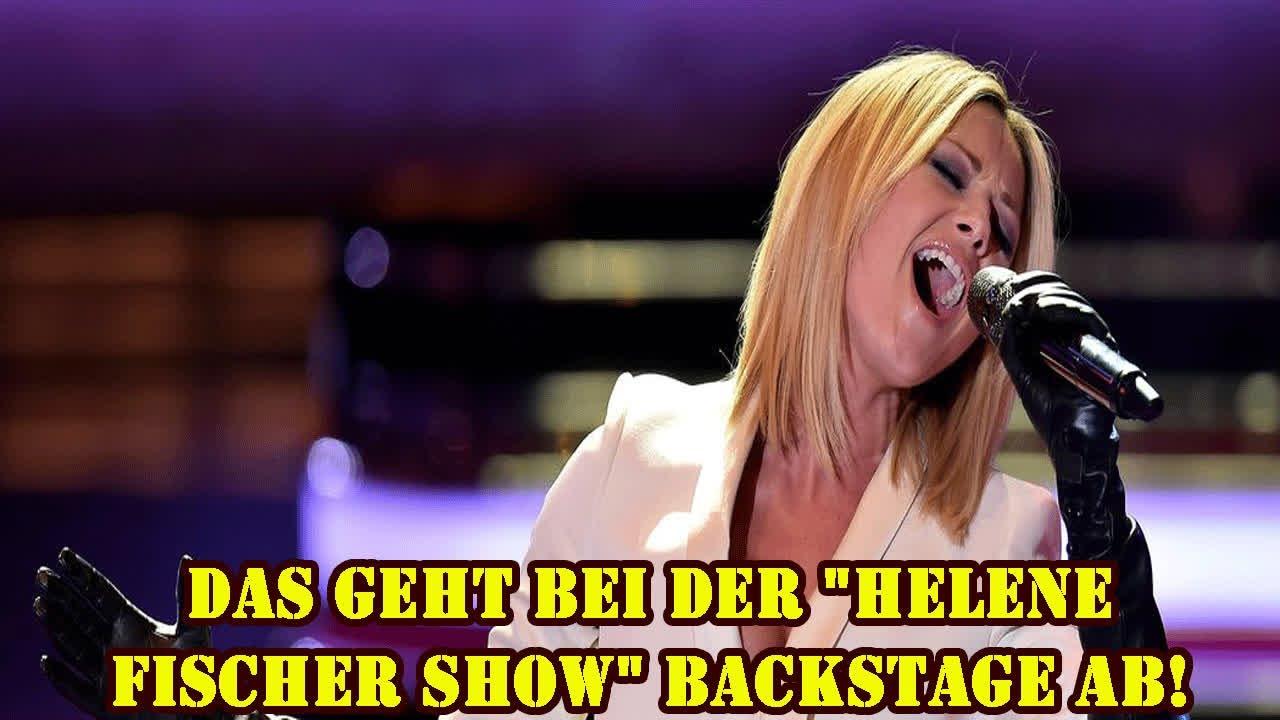 Das geht bei der Helene Fischer Show Backstage ab! - YouTube