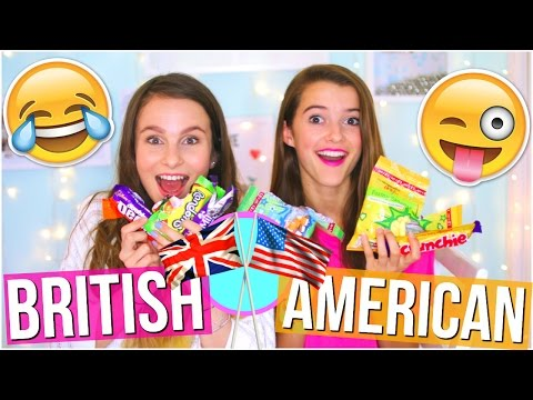 American VS. British! Slang + Trying Sweets w/ Lovevie | Tatiana Boyd