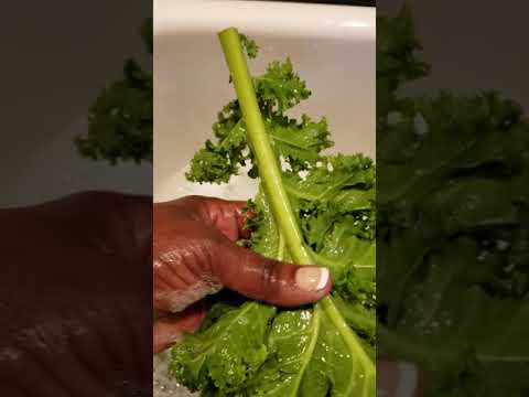 How To Clean Kale Greens