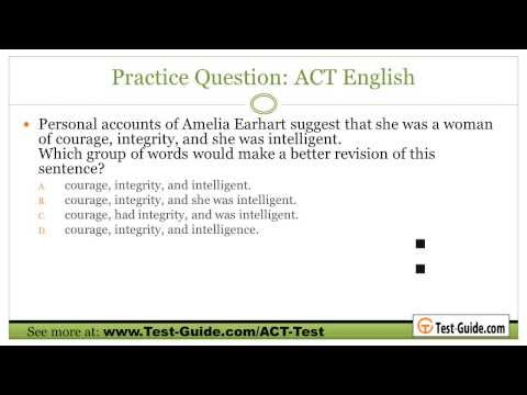 ACT Test Prep - ACT Practice Tests and Sample Questions - YouTube