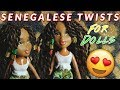 DIY Senegalese Twists for Dolls - How To - Doll Hairstyles   TUTORIAL