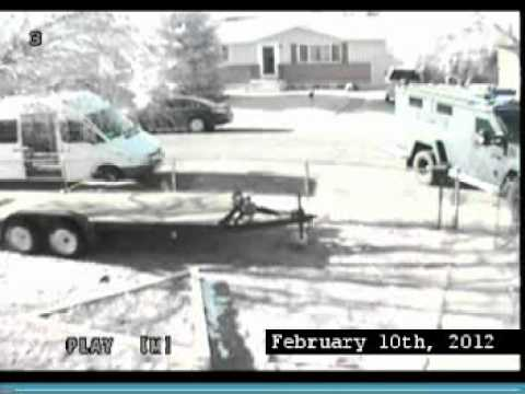 CSPD raid of Lynda and Chuck for suspected MMJ overgrow - Home camera 1 - February 10th, 2012