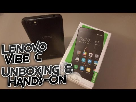 Lenovo Vibe C A2020a40 Unboxing and Hands-on - First Boot