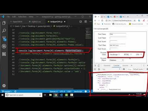 javascript.info The Modern JavaScript Tutorial Part 2: 4.1 Form properties and methods thumbnail