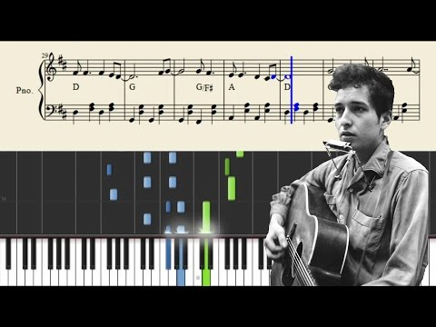 Bob Dylan - Blowin' In The Wind - Piano Tutorial + SHEETS