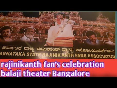 Darbar  @ rajinikanth fan's  celebration in Bangalore balaji theater