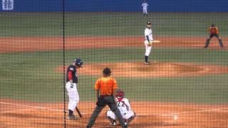 2013/7/11 マット・チャップマン (大学アメリカ代表) vs 山崎福也 (明治大学) Matt Chapman Timely hit