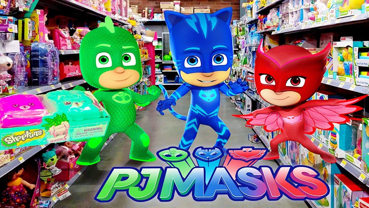 Pj Masks Shop At Walmart Toy Hunt For Shopkins Youtube