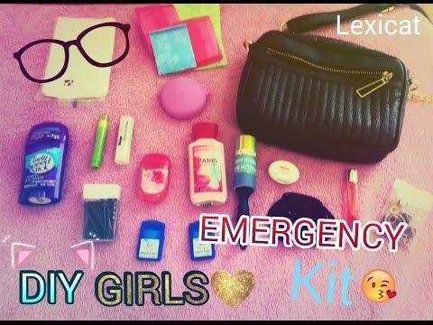 ♡ DIY School EMERGENCY kit for girls♡ {2016-17}