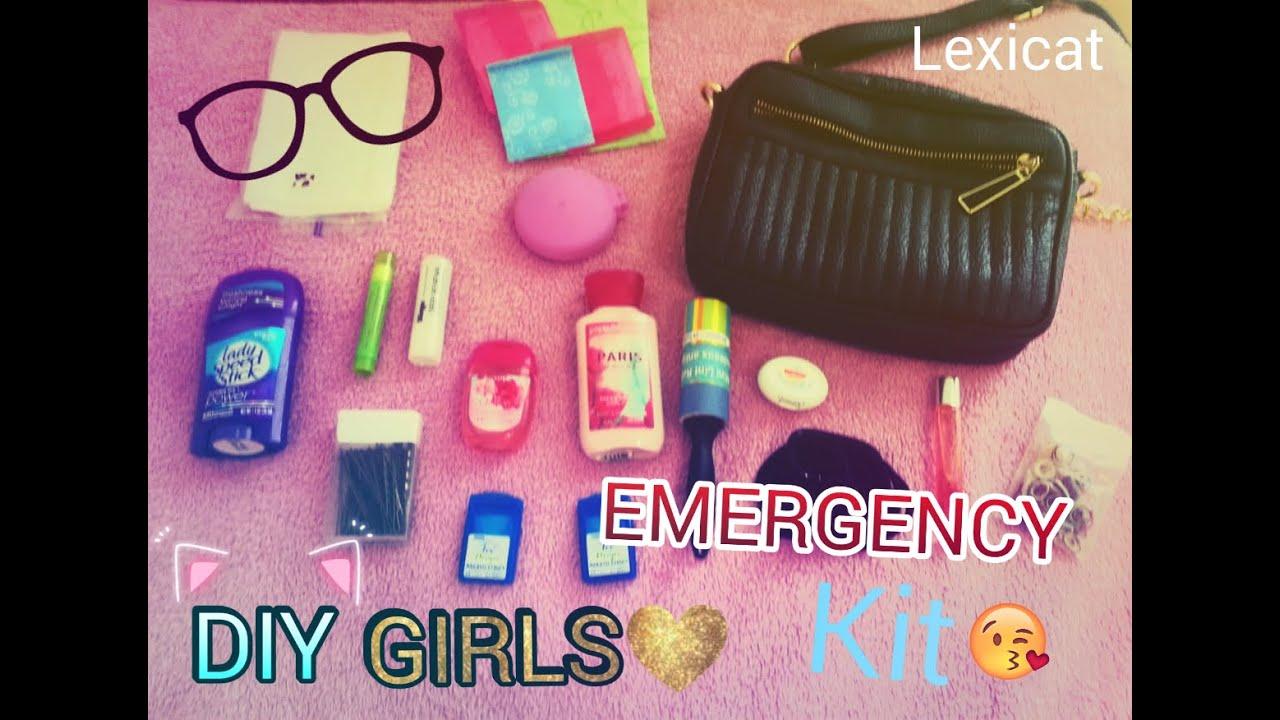 Diy School Emergency Kit For Girls Youtube