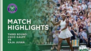 Coco Gauff vs Kaja Juvan   Third Round Highlights