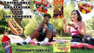 We Ate Gas Station Food For 24 Hours .... I hated this challenge😭