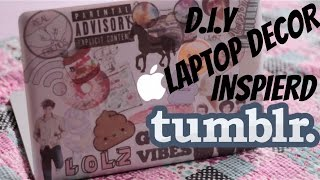 D.I.Y Laptop Decor | Tumblr Inspired
