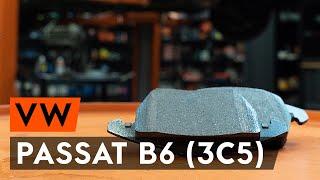 Como substituir pastilhas de travão dianteiros noVW PASSAT B6 (3C5) [TUTORIAL AUTODOC]