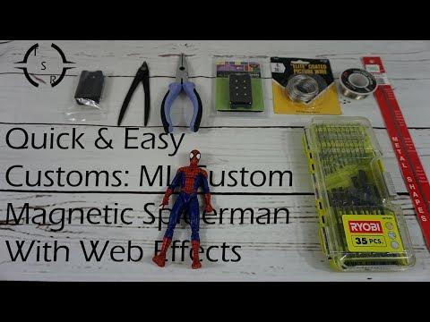 """4/"""" Marvel Legends Spider-Man Custom Web Effects Set of 3-13/"""" /& 3/"""""""