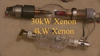 30kW and 4kW Xenon Lamps Get Tested on a DC Welder
