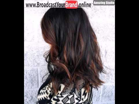 Dark Brown Hair With Dark Caramel Highlights Youtube