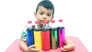Learn Colors with Coca Cola + Mentos  / Educational Video for Kids