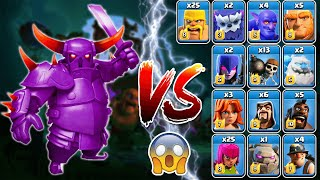 🔥New Level 8 PEKKA🔥 vs All Troops in Clash of Clans