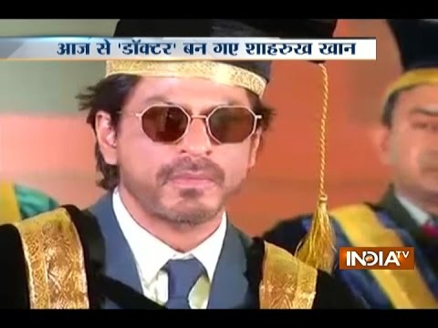 Shah Rukh Khan Speaks After Getting Honorary Doctorate From Hyderabad University