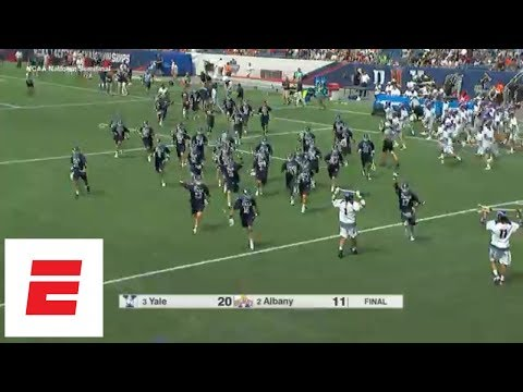 Full-game highlight: No. 3 Yale steamrolls No. 2 Albany in NCAA lacrosse semifinals | ESPN