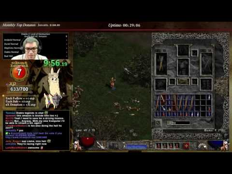 Diablo 2 - Hell Hardcore Amazon!!!! - SHAEL RUNE