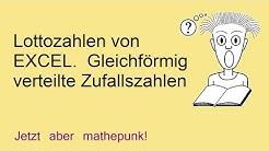 """""""Lottozahlen""""  von EXCEL. Gleichförmig verteilte Zufallszahlen"""