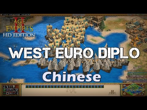 Demolition Ship spam | West Europe Diplomacy - Chinese | Age of Empires 2 HD Custom Scenario