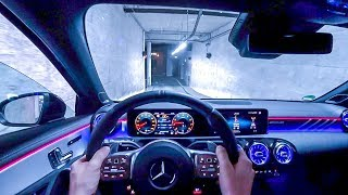 2019 MercedesAMG A 35 4MATIC (306PS) NIGHT POV DRIVE Onboard (60FPS)