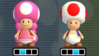 New Super Mario Bros Wii - Toad & Toadette Playable