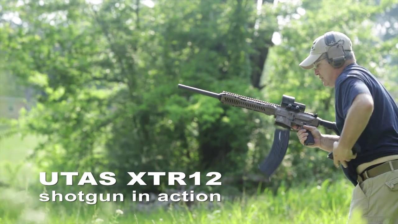 UTAS XTR12 shotgun in action