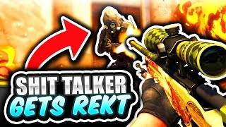 SH*T TALKER GETS BHOPPED (CS GO Funny Moments in Competitive)