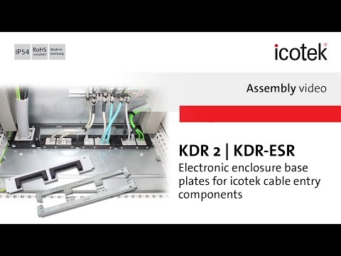 Enclosure base plates for cable entry KDR | Assembly | icote