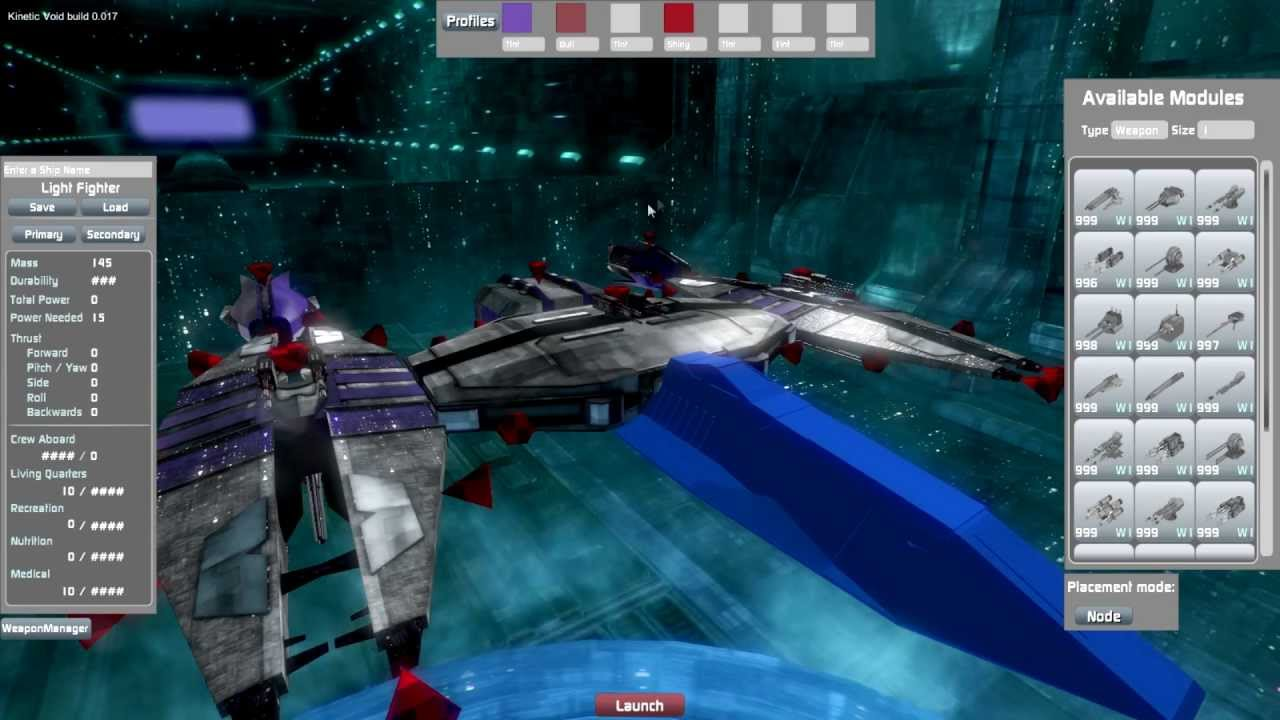 Kinetic void build 3d spaceships with guns youtube for Build a building online