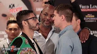 JORGE LINARES VS. LUKE CAMPBELL FULL FACE OFF - FINAL PRESS CONFERENCE