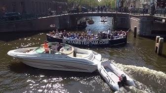 Chaos maar ook lol op de grachten van Amsterdam / Stille Zaterdag 2019