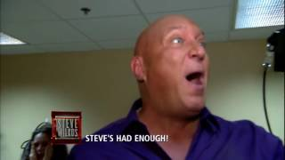 steve blows up on man who tried to attack him