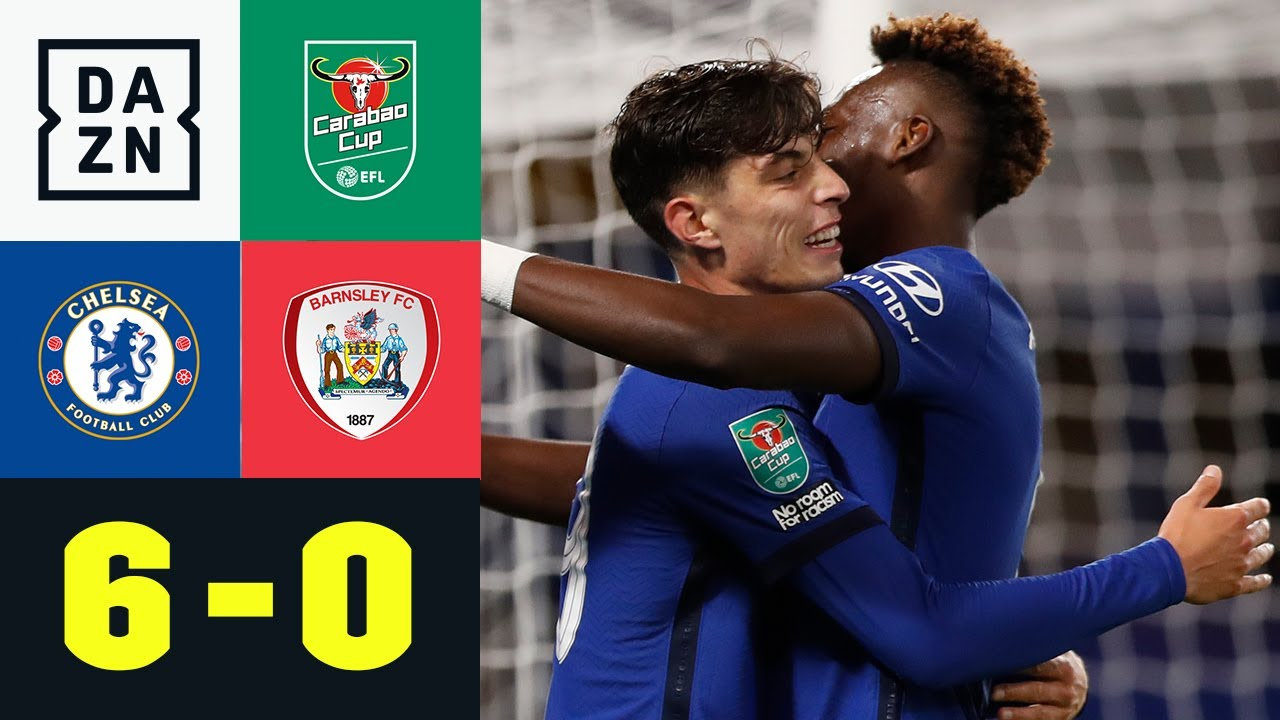 Havertz-Hattrick! Chelsea fertigt Barnsley ab: Chelsea – Barnsley 6:0 | Carabao Cup | DAZN