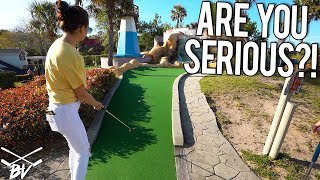 THIS MIGHT BE THE WORST THING TO HAPPEN AT A MINI GOLF COURSE!